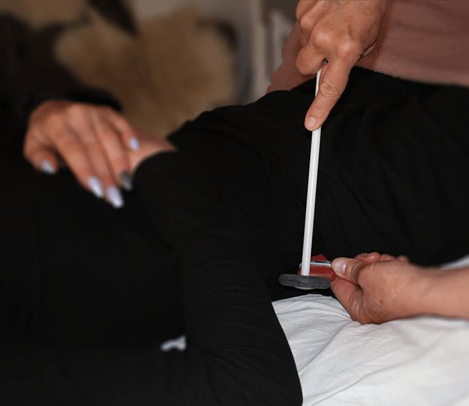 RAH-behandling med gummihammer